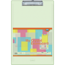 Navneet Transparent Exam Board - Green - Foolscap Size 24 cm x 34.5 cm