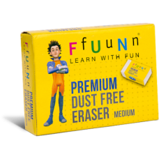 FUN Premium Dust Free Erasers Medium Pack of 20 (2 packs)