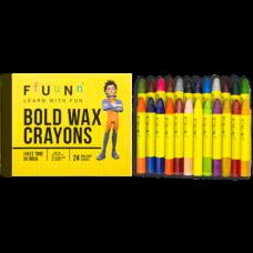 FUN Wax Crayons Bold - Pack of 24 Shades (Set of 2 packs)