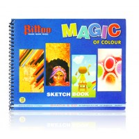 Bittoo Spiral Sketch Book (18 sheets)- pack of 5