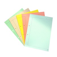 A4 Single-side Ruled coloured sheets (20 sheets) - 5 Packs