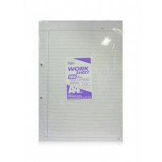 A4 Size Ruled Sheets 160 GSM (20 sheets) - 5 Packs