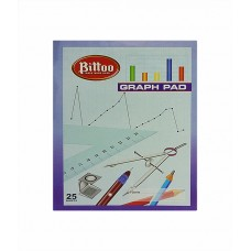 Bittoo Graph Pad (25 sheets) - pack of 5