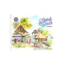 Spiral bound Sketch Book  Size: 26.8 x 21.4 cm - 18 sheets - pack of 5