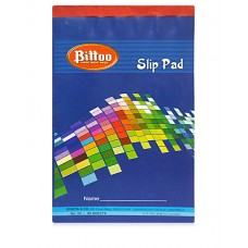 Bittoo Slip writing Pad No. 33 (80 Sheets) - Pack of 5