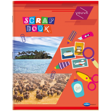 Youva-Navneet Scrap Book Soft Bound - 22 cm x 28 cm - 32 Pages (Set of 6)