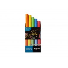 Apsara Colour Chalk for Blackboard (Pack of 5)