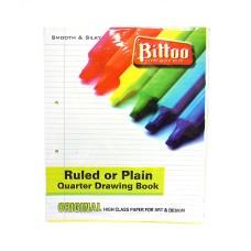 Bittoo 1 Side Ruled/1 Side Plain Big (20) Sheets - 5 Packs