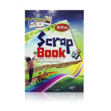 Bittoo Scrap Book with Plain Coloured (20 pgs) - Pack of 5