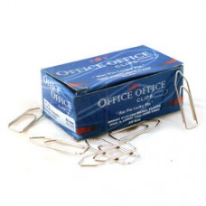Bright Electro nickle plated office clip 35 mm - 10 packs