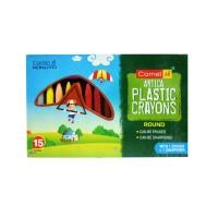Camlin Artica Plastic Crayons - 15 Shades (2 packs)