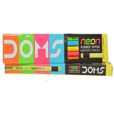 Doms Neon Pencils (Pack of 10) - 3 Packs