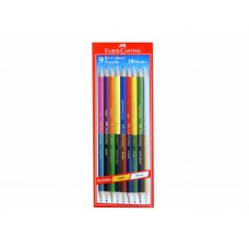 Faber Castell 9 Bi-Colour Pencils (18 shades)