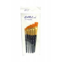 Painting Brush set of 7 flat brushes