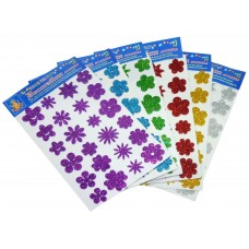 Glitter Flower Stickers - pack of 10