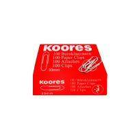 Kores paper clip-packet of 100 clips of 33mm each