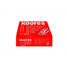 Kores Paper Clips 33mm (10 boxes)