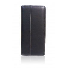 Leather Cheque Book holder-black