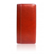Leather Cheque Book holder-red