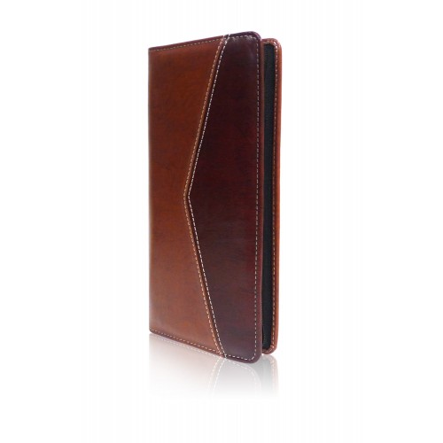 Leather Cheque Book holder-twin colour