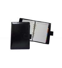 Black Leather Magnetic Planner (N2)