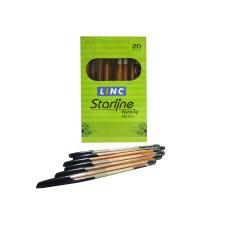 Linc Starline Black Ball Pen - 20 Pcs