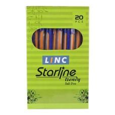 Linc Starline Blue Ball Pen - 20 Pcs