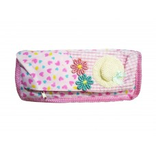 School Stationery Pink Cap Pouch
